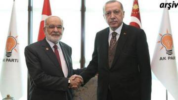 Karamollaoğlu Erdoğan ile görüştü