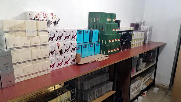 Parfüm kaçakçılarına baskın