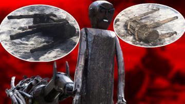 """""""Put"""" diye 30 heykeli yıktılar!"""