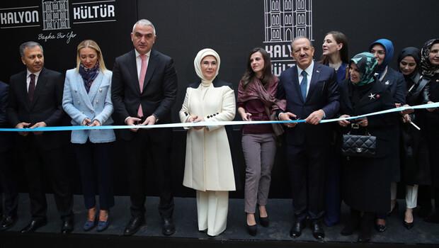 Emine Erdoğan Kalyon Kültür'ün açılışını yaptı