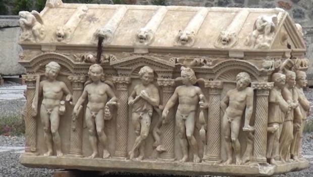 Roma dönemine ait lahitin sırrı çözüldü…
