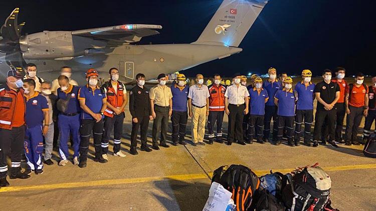 Türkiye'den gönderilen yardım uçağı Beyrut'a ulaştı