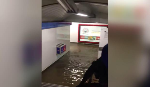 İspanya metrosu sular altında