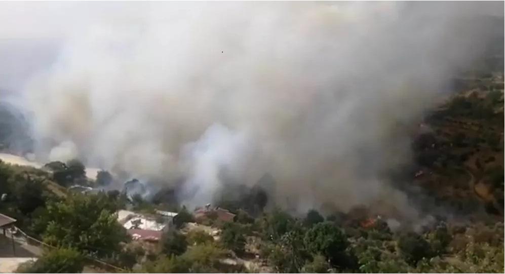 Anamur'da orman yangını! Evler boşaltıldı