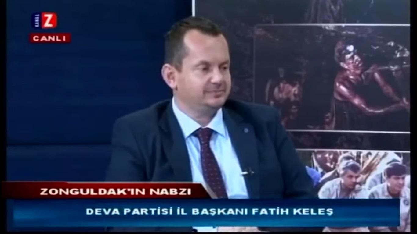 Deva Partisi Zonguldak İl Başkanı canlı yayında küfür etti