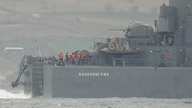 Çanakkale Boğazı'nda Rus savaş gemisi hareketliliği